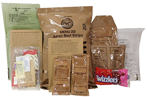 MREs (Meals Ready-to-Eat) Genuine U.S. Military Surplus (1 Pack) Assorted Flavor>