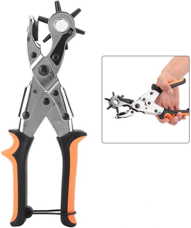 FMOGE Belt Hole Puncher, Leather Hole Punch Set for Belts Watch Bands Straps Dog Collars Saddles Shoes,Hand Tool Sets 4