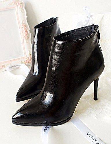 Negro us6 Puntiagudos Gray Mujer 7 Xzz Gris Botas us8 Rojo Semicuero Stiletto Black Uk4 Uk6 Casual Zapatos De 5 Eu37 Tacón 5 Cn37 5 Eu39 Cn39 CwqXzUq