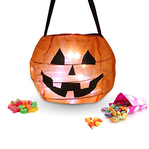 Trick Or Treat Bucket (Halloween Pumpkin Lantern Costume Pumpkin Treat Candy Bags (1 Set))