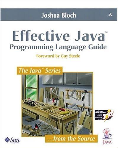Effective java programming language guide 1, joshua bloch, ebook.