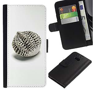 For HTC One M8 Case , Architecture Design Abstract Minimalist - la tarjeta de Crédito Slots PU Funda de cuero Monedero caso cubierta de piel