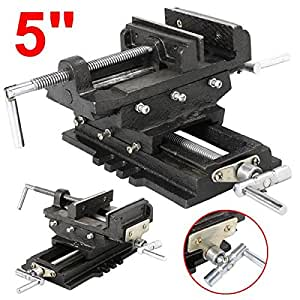 "go2buy Adjustable 4""/5"" Cross Drill Press Vise 2 Way X-Y (5"")"