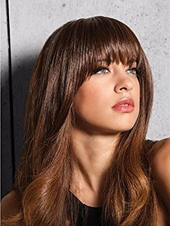 Amazon Com Clip In Bangs Color R6 Dark Chocolate Hairdo