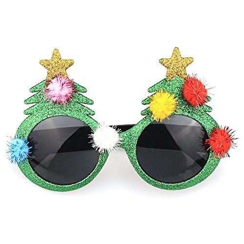 TIJN Christmas Tree Party Costume Dressing Sunglasses for Men - Sunglasses Tree Christmas