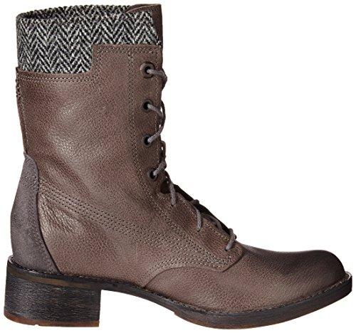 Timberland Whittemore F/L Lace, Botines para Mujer Dark Grey Woodlands/Grey Harris Tweed Wool