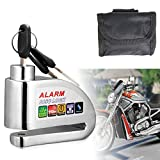 Motorcycle Lock,Disc Brake Lock,Motorcycle Disc Lock Alarm Anti-theft 110dB Alarm Sound and 6mm Pin with 1.5m Reminder Cable for Motorcycles,Bicycles and Scooters Brake Disc Wheel Lock
