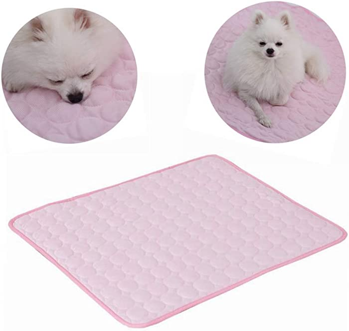 PUMYPOREITY Pet Cooling Pad Extra Large Dog Summer Sleeping Mat Pet Cats Cooling Blanket Sleep Cushion Pet Supplies Keep Pets Cool Comfort for Cats and Dogs for Kennel Sofa Bed Floor Travel Car Seats