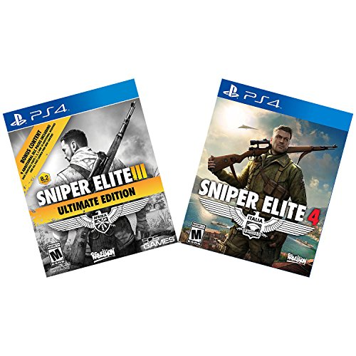 Playstation Sniper Elite III Ultimate Edition and Sniper Elite 4 Sharpshooters Bundle 4 PS4
