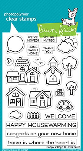 Lawn Fawn Clear Stamps LF1591 Happy Village