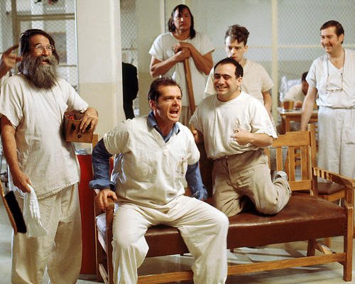 One Flew Over the Cuckoo's Nest Featuring Jack Nicholson 16x20 Poster with inmates