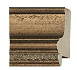 Picture Frame Moulding (Wood) 18ft bundle - Traditional Antique Gold Finish - 2'' width - 11/16'' rabbet depth