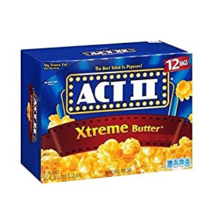 Act Ii Xtreme Butter Microwave Popcorn - 12 Bag Box 33.01 Oz, Set of 2