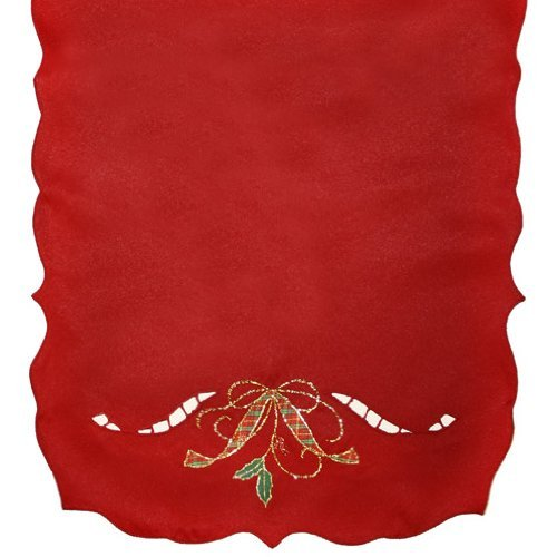 (Lenox Holiday Nouveau 90-Inch Runner, Red)