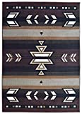 Rugs 4 Less Collection Southwest Native American Indian Area Rug Design R4L SW1 in Brown / Chocolate (5'x7')