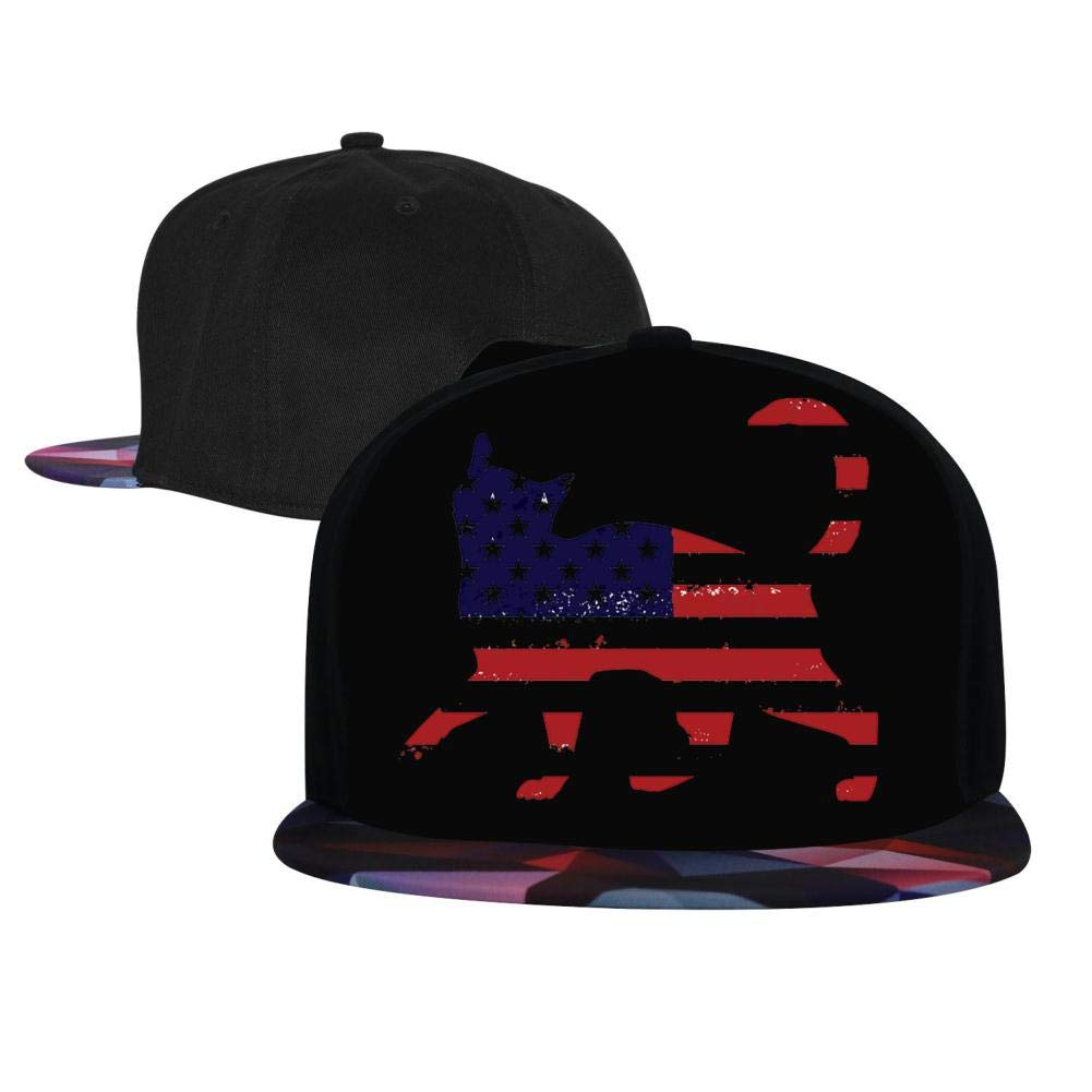 USA Independence Day American Flag Animals Ca Mens and Womens Trucker Hats Adjustable Hip Hop Flat-Mouthed Baseball Caps