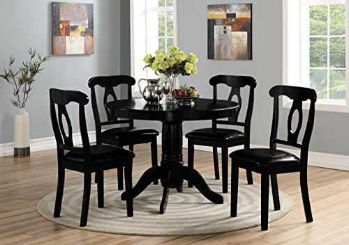 (Angel Line 23500-58 Lindsey Dining Set, Black )