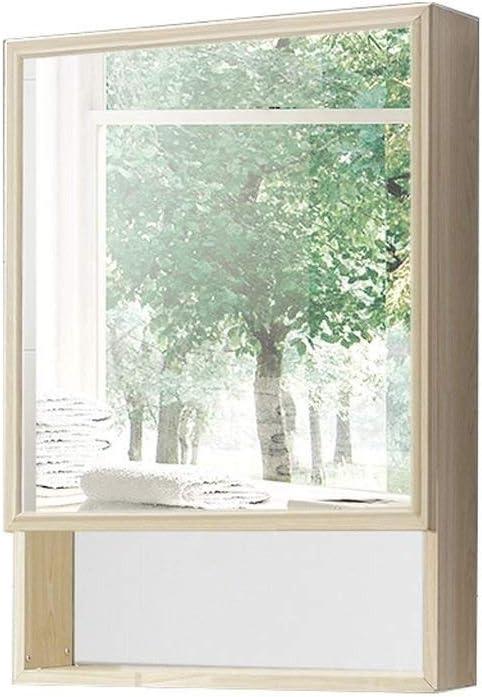 BJYX Perfil de Aluminio del Espacio Espejo de baño Armario con Espejo Caja de Pared Gabinete de Almacenamiento (Color : Beige): Amazon.es: Hogar