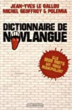 Dictionnaire de novlangue