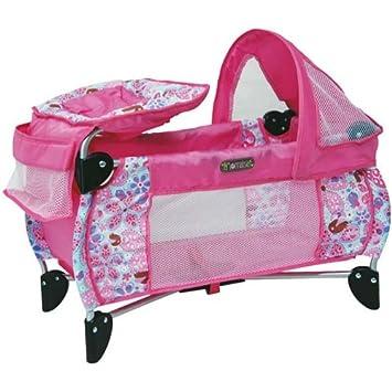 Partner Jouet - A1102318 - Accessoire pour Poupée - Lit Parapluie + Table à  Langer a22e6ab0a6d2
