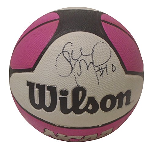 fan products of Uconn Huskies Sue Bird Autographed Hand Signed Pink NCAA Wilson Basketball with Proof Photo of Signing, Seattle Storm, Dynamo Moscow, Spartak, COA
