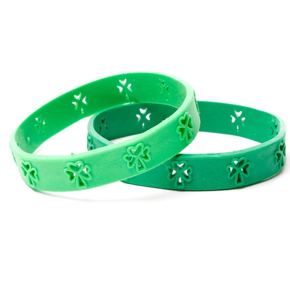 St. Patrick's Day shamrock bracelets classroom treats gifts