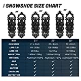 Odoland 4-in-1 Snowshoes Snow Shoes for Men and