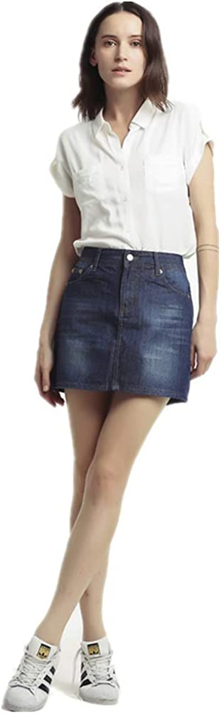 Ladies Skaker Mini Dress Womens Denim Skirts Stretch Denim Skirt Jeans Womens Denim Mini Skirt Ladies Skirts Denim Skirt for Women Plus Size A Line Skirt Denim Skirt
