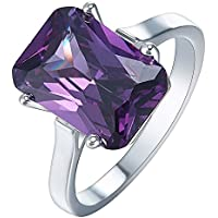 Sumanee Fashion Amethyst 925 Silver Ring Women Wedding Engagement Jewelry Size 6-10 (6)