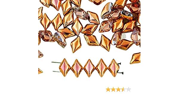 9 Gram 2 Hole Crystal Capri Gold Trios Tube