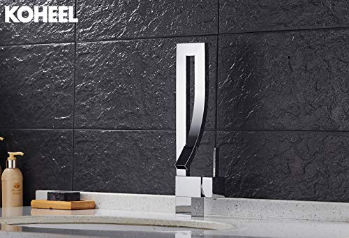 Newfangled Kitchen Faucet Deck Mounted Kitchen Water Tap Black Square Waterfall Griferia Lavamanos Cold & Hot Musluk,White