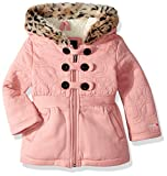 LiMiTeD Too Baby Girls Too Inf Heart Quilt Military Fleece JKT, Mauve, 18M