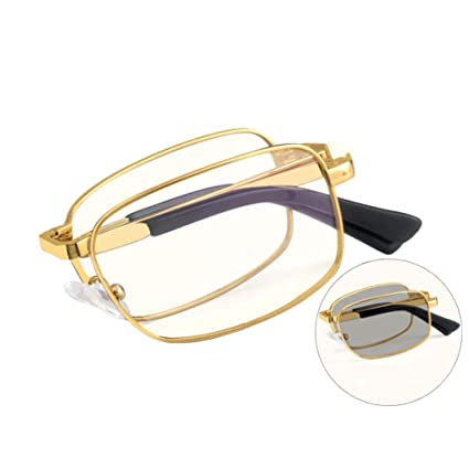 Gafas de lectura plegables de titanio ultraligeras, lentes ...