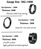 LOYALLOOK 10Pairs Stainless Steel Earrings For