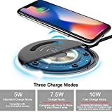Yootech Wireless Charger, 7.5W Wireless Charging for iPhone X 8/8 Plus, 10W Fast Wireless Charging for Samsung Galaxy S8/Note 8/5/S7, 5W for Galaxy S9/S9 Plus and All Qi enabled Phones(No AC Adapter)