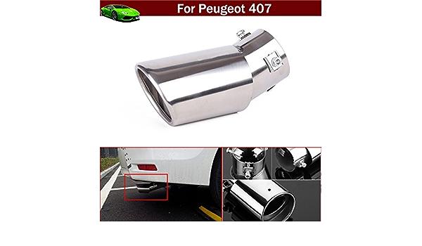Nueva 1pcs cromo coche tubos de extensión de tubo de escape ...