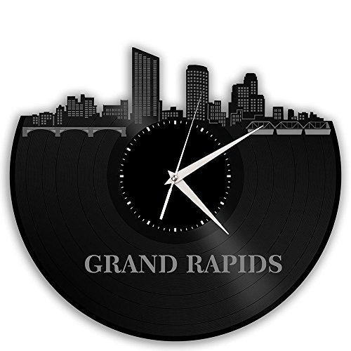 Grand Rapids Vinyl Wall Clock Cityscape Travel Gift -