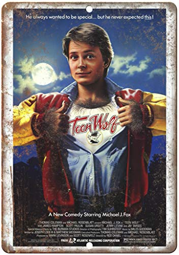 Adkult Teen Wolf Michael J. Fox Vintage Movie Poster 12