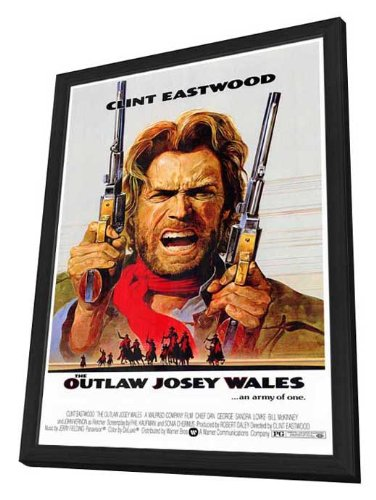 Amazon com: Outlaw Josey Wales - 27 x 40 Framed Movie Poster