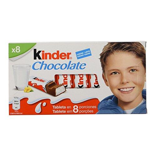 Kinder Chocolate – Barritas de Chocolate con Leche – 8 unidades x 12.5 g