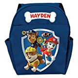 "Personalized PAW Patrol Ready for Adventure Blue Toddler Backpack & 12""W x 14""H x 5""D"