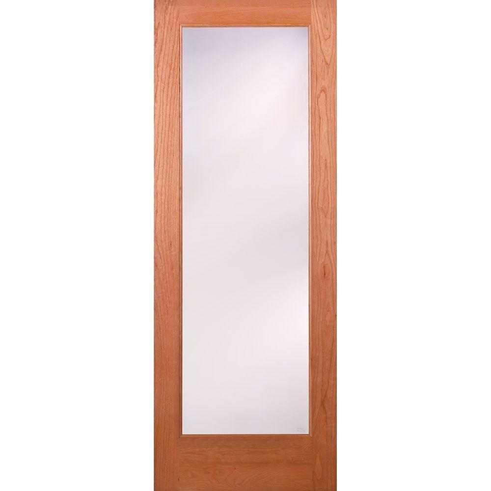 Privacy Woodgrain 1 Lite Unfinished Cherry Interior Door Slab     Amazon.com