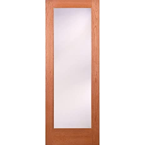 Merveilleux Privacy Woodgrain 1 Lite Unfinished Cherry Interior Door Slab