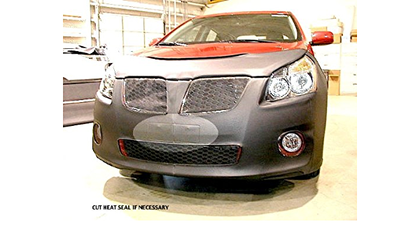 Fits VOLVO,S70,1998 thru 2000 Car Mask Bra Lebra 2 piece Front End Cover Black