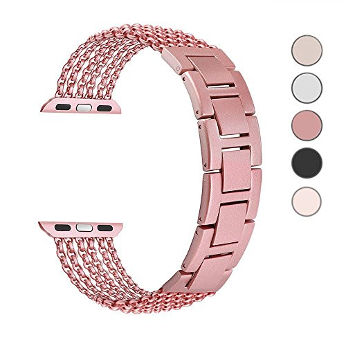 - LOYUT Compatible for Apple Watch Band 38mm/40mm 42mm/44mm Stainless Steel Link Bracelet Adjustable Replacement iWatch Band for Apple Watch Series 4/3/2/1 Sport Edition