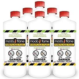 Moda Flame 1 Quart Bio-Ethanol Fireplace Fuel 6 Bottles