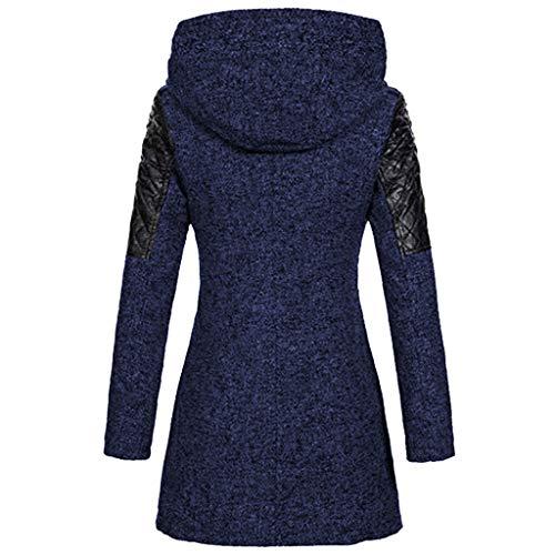 ZEFOTIM Outerwear Windbreaker, Women Warm Slim Jacket Thick Overcoat Winter Outwear Hooded Zipper Coat