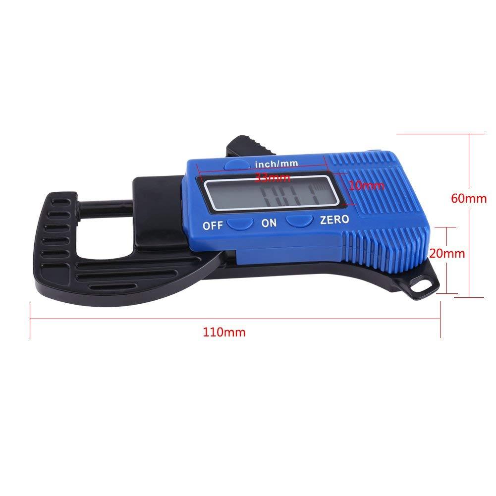 Calibre D/épaisseur 0-12mm Jauge Num/érique Mesure De Haute Pr/écision Testeur Affichage LCD