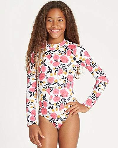 Billabong Girls' Girls' Sun Dream Bodysuit Rashguard Black Large by Billabong