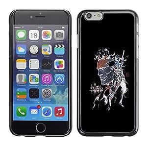 Cubierta de la caja de protección la piel dura para el Apple iPhone 6 (4.7) - Punk Skull Splash